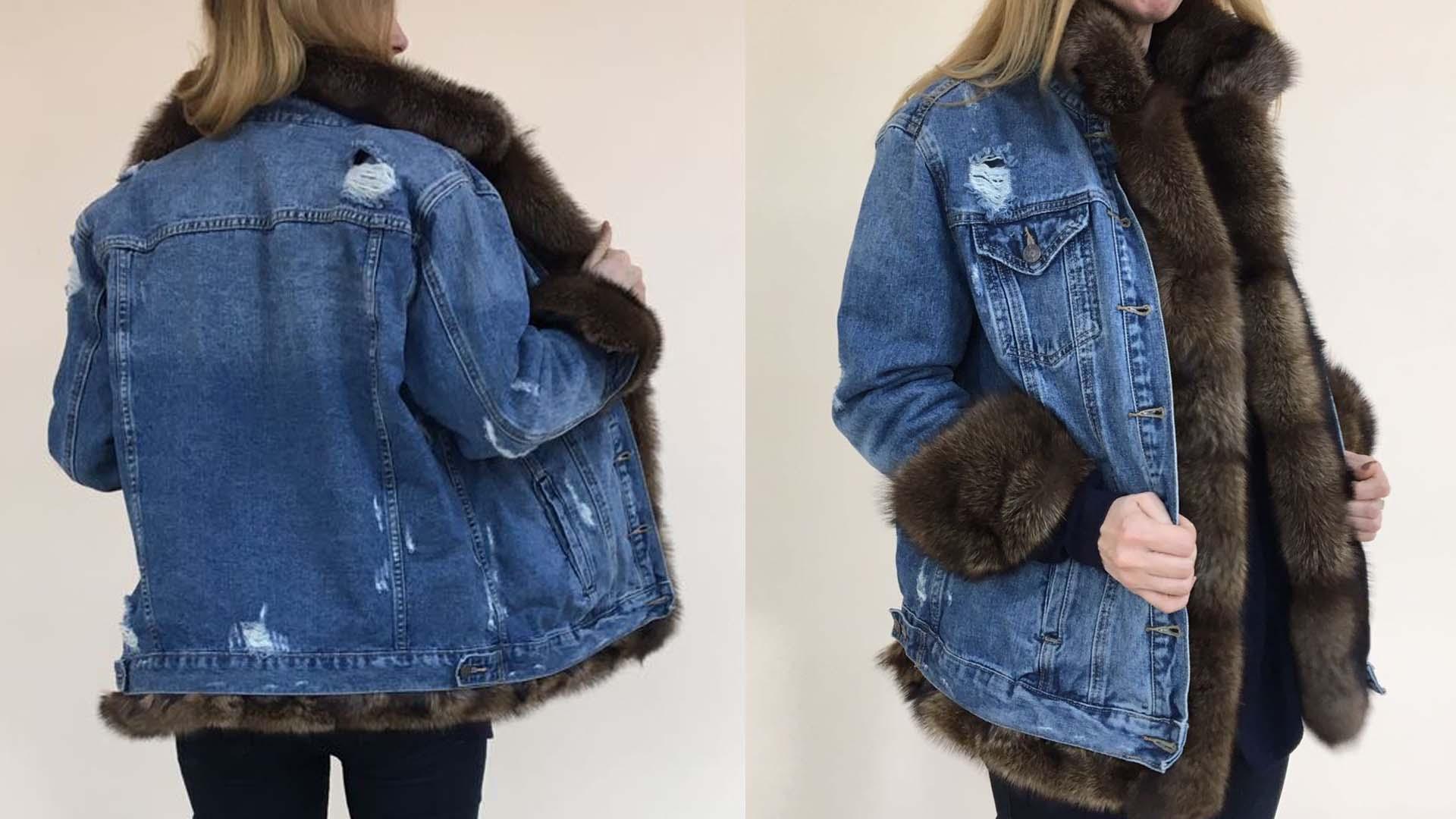 Купить Джинсовую Куртку С Мехом Женскую В Интернет Магазине